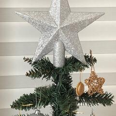 クリスマスツリー/トップスター/ニトリのツリー/ヌードツリー/100円オーナメント/ニトリのオーナメント/... もうすぐクリスマスですね。 我が家のツリ…