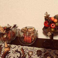 キャンドルスタンド/クリスマス/DIY/雑貨/100均/セリア/... キャンドルスタンドに、 ちょっとクリスマ…