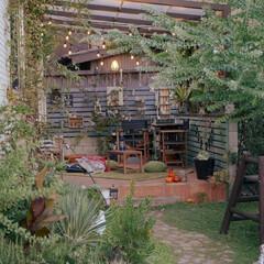 マイガーデン/ガーデニング/エクステリア/DIY/住まい/ベランピング 初夏からつけていたオーニングを 秋にはス…