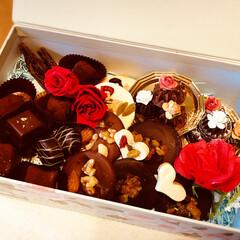スイーツ/チョコレート/バレンタイン/ハンドメイド バレンタインチョコ、作りました。 テンパ…