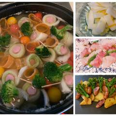 カレー粉炒め/柚子大根/刺身/ポトフ/おうちごはん/フード 今夜は、お野菜たっぷりのポトフを作りまし…