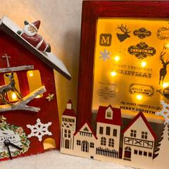 セリア/クリスマス 時計雑貨/イルミネーションフォトフレーム/雑貨/雪だるま/クリスマス/... 昨年作った雪だるまのクリスマスバージョン…(3枚目)