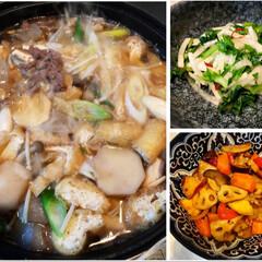 豚肉/レンコン/さつまいも/大根葉/煮物/芋煮/... 皆さんが、作ってみえた芋煮、作ってみまし…