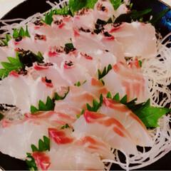 鯛の刺身/キュウリ/豚肉/なす/フード/ハンドメイド コンバンハー(´∀`∩ 今日は、may…(3枚目)