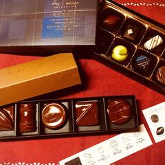 箸置き/チョコレート チョコレートをいただきました。 手前のは…