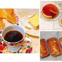 サツマイモ/シフォン型/ダイソー/焼きプリン/手作り/シフォンケーキ/... スイーツ3点作ってみました。 ☆おからパ…