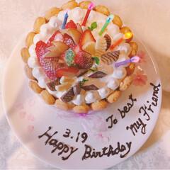 DIY/花時計/ガトーハラダ/バースデーケーキ/甘党大集合 お誕生日おめでとう。 今日は、大切なお友…