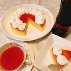 紅茶/kaldi/焼きプリン/さつまいも/スイーツ/フード/... サツマイモの焼きプリンを作ってみました。…