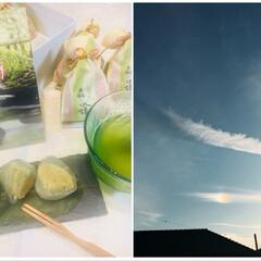 彩雲/満点星一休/和菓子/栗🌰/森の水鏡 昨日、今日とエアコンなしで、 窓、全開で…