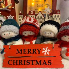 セリア/クリスマス 時計雑貨/イルミネーションフォトフレーム/雑貨/雪だるま/クリスマス/... 昨年作った雪だるまのクリスマスバージョン…(4枚目)