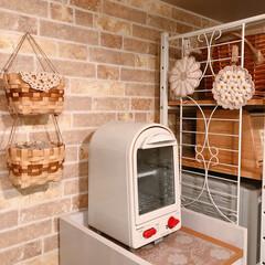 トースター/キッチン/キッチン雑貨/雑貨/インテリア/住まい 我が家のトースターは縦型の2段式です♪ …