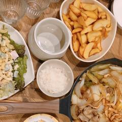 マカロニサラダ/すき焼き/おうちごはん/住まい/暮らし いつかの晩ご飯(❁´ω`❁)  すき焼き…