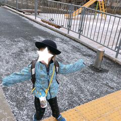 幼稚園児/朝の一枚/雪/フォロー大歓迎/公園 数日前の朝の一枚*  公園も雪でうっすら…
