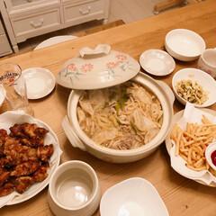 から揚げ/お鍋/夜ご飯/暮らし/フォロー大歓迎 いつかの夜ご飯~(❁´ω`❁)  水餃子…