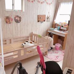 女の子部屋/子供部屋/女子/インテリア/住まい/掃除 小6娘の汚部屋です(笑)  掃除中をパチ…