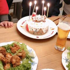 アイスケーキ/誕生日ケーキ/誕生日/おうちごはん/おうちごはんクラブ 今日は娘の誕生日お祝い♪  ケーキは毎年…(1枚目)