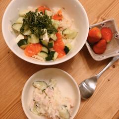 サーモン丼/晩ご飯/おうちごはん/住まい/暮らし 昨日の晩ご飯~(❁´ω`❁)  サーモン…