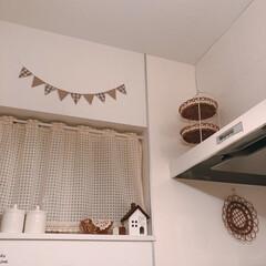 リメイクシート/レンジフード/kitchen/キッチン/インテリア/住まい キッチンをパチリ♪  レンジフードはリメ…