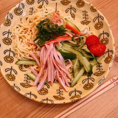 お昼ごはん/お昼ご飯/冷やし中華/おうちごはん/暮らし 今日のお昼ご飯(❁´ω`❁)  冷やし中…