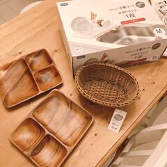 アカシアプレート/キッチン雑貨/雑貨/ニトリ/おすすめアイテム/暮らし ニトリでプレート皿get♩ 仕切りのお皿…