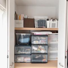 押し入れ/収納/雑貨/住まい/暮らし/フォロー大歓迎 和室の押し入れ収納。 上の部分が空いてい…
