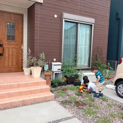 水栓柱/散水栓カバー/散水栓/フォロー大歓迎/雑貨/おでかけ/... お庭で遊ぶ子供達(❁´ω`❁)  すぐに…