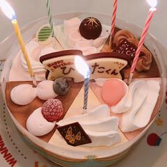 誕生日ケーキ/アイスケーキ/スイーツ/ありがとう平成/フォロー大歓迎/LIMIAスイーツ愛好会/... 末っ子くんの5歳のお誕生日ケーキヽ(*^…(1枚目)