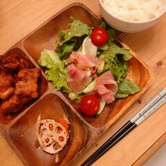 晩ご飯/から揚げ/サラダ/おうちごはん/暮らし いつかの晩ご飯(❁´ω`❁) から揚げ、…