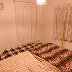 ベッド/寝室/住まい/暮らし/フォロー大歓迎 寝室pic❁¨̮ 別角度から(o^^o)…