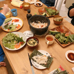 手巻き寿司/夜ご飯/夜ごはん/おうちごはん/暮らし 昨日は末っ子くんのひと足早い誕生日夜ごは…