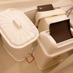 ゴミ箱/大掃除/住まい/掃除/暮らし/フォロー大歓迎 ゴミ箱スッキリ丸洗い!!  大きなゴミ箱…