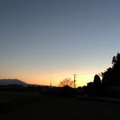 夕暮れの空/夕暮れ/実家/あけおめ/フォロー大歓迎/冬 昨日の夕暮れ。。☆** 実家から少し歩い…