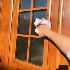 玄関ドア/住まい/掃除/暮らし/フォロー大歓迎 玄関の大掃除~!!  タイル磨きをしたら…(1枚目)