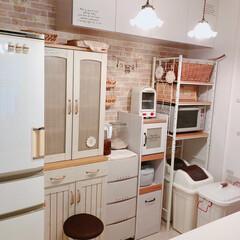 ランプ/ミルクガラスシェード/キッチン/雑貨/フォロー大歓迎 kitchen~(❁´ω`❁)  キッチ…