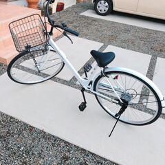 プレゼント/白い自転車/12歳/自転車/誕生日プレゼント 先月末12歳になった長女(o^▽^o) …