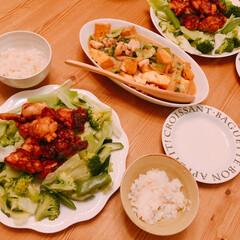 からあげ/から揚げ/おうちごはん/キッチン雑貨/暮らし 昨日の晩ご飯~(❁´ω`❁)  から揚げ…