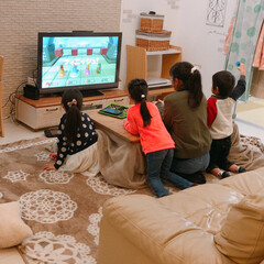 ニンテンドースイッチ/ゲーム/フォロー大歓迎/雑貨/インテリア/家具/... 週末。。♡  近所の子達とニンテンドーS…