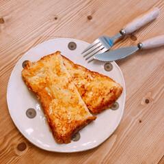 朝ごパン/食パン/フレンチトースト/朝食/おうちごはん ママ友ちゃんから美味しいと評判の食パンを…(1枚目)