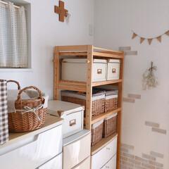 ランドリーラック 頑丈 洗濯機 大量収納 ラック 棚 洗濯機ラック ランドリー 収納 ランドリー収納 木製 TLR-17743 | 山善(洗濯機ラック)を使ったクチコミ「和室です*  チェストに山善の木製ランド…」