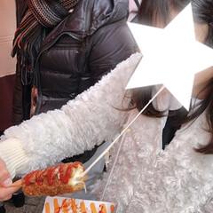 南京町/中華街/フォロー大歓迎/おでかけ/グルメ/フード 神戸南京町にて♪  娘、念願のチーズドッ…
