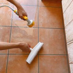 玄関タイル掃除/玄関タイル/玄関/フォロー大歓迎/おうち/住まい/... 玄関タイル掃除。。♪  ホームコーディー…