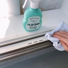 ウタマロクリーナー/大掃除/住まい/掃除/暮らし/フォロー大歓迎 大掃除記録~(❁´ω`❁)  寝室の窓サ…