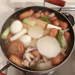 残り野菜/つけあげ/つけ揚げ/さつま揚げ/おでん/おうちごはん 宮崎の母がつけ揚げ(さつま揚げ)をくれた…