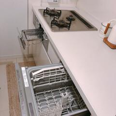 食洗機/コンロ周り/キッチン/住まい/暮らし キッチンの食洗機&コンロ周り(❁´ω`❁…