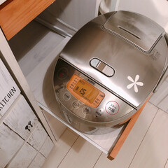 キッチン/炊飯器/フォロー大歓迎/インテリア/家具 この間... 翌日のおにぎり用に、朝の予…