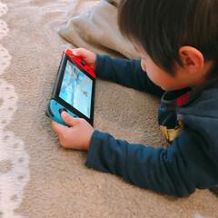 子供/おうち/住まい/ゲーム/ニンテンドースイッチ ニンテンドースイッチをする息子(4才) …