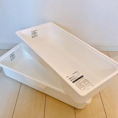 収納ボックス/カラボ/インテリア/雑貨/ニトリ/収納 ニトリのCOLOBOで使える浅型ワイド収…