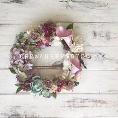 贈り物/ギフト/花雑貨/花のある生活/花のある暮らし/リース/...   3月はお別れの時期…。 * *  お…