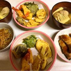 素敵便🎁💕/LIMIAごはんクラブ/おうちごはんクラブ/シンデレラフィット 昨日の夜ご飯🤗 筍とエビとしその天ぷら …