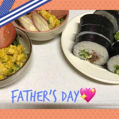 父の日/おうちごはん プルコギ巻き カボチャサラダ 😉💕